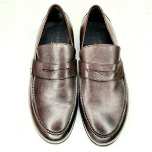 HARRYS OF LONDON Dark Brown Calfskin Penny Loafer